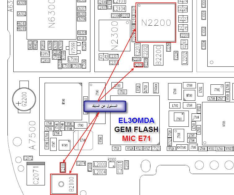 NOKIA e71-1 rm-346       مخطط مايك