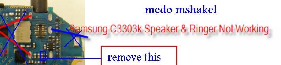 الحل النهائي لمشكلة Samsung C3303k Speaker  Ringer mic  Not Working