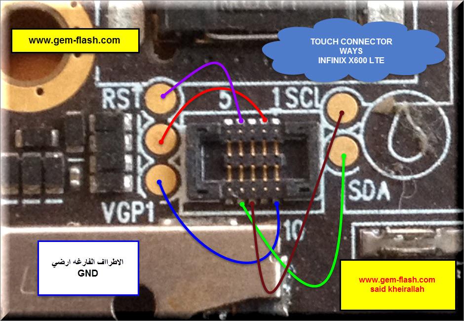 مسارات اعطال الهاتف الانيق انفنكس   INFINIX X600 LTE