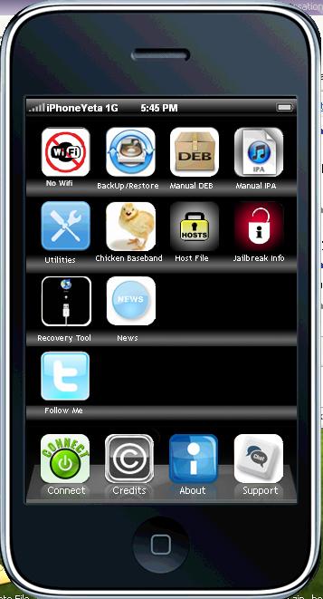 حصريا احدث برنامج Jailbroken Quick Tool باسم جديد iPhoneYeta v2