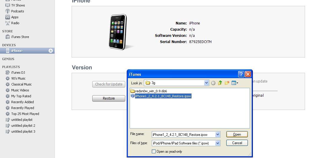 ايفون 8g -3g مشكلة ارجو المساعدة