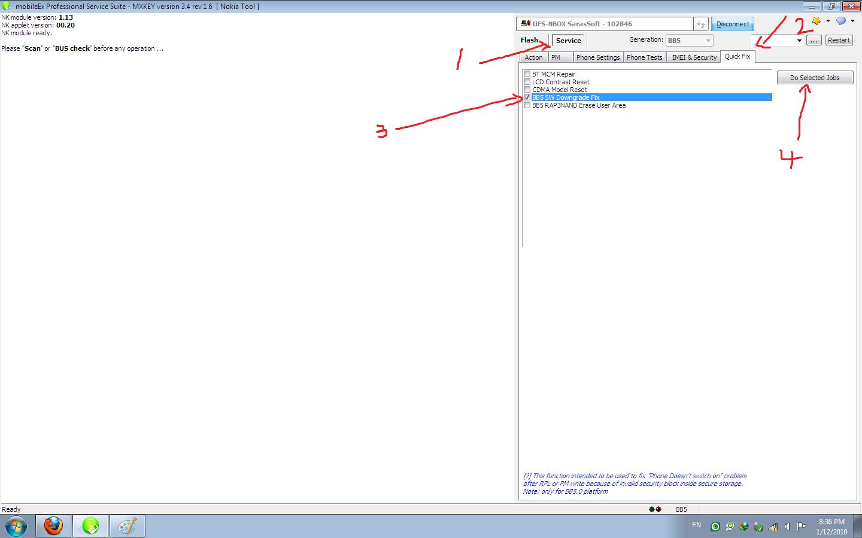 الان حل مشكله downgrade في سوفت وير bb5