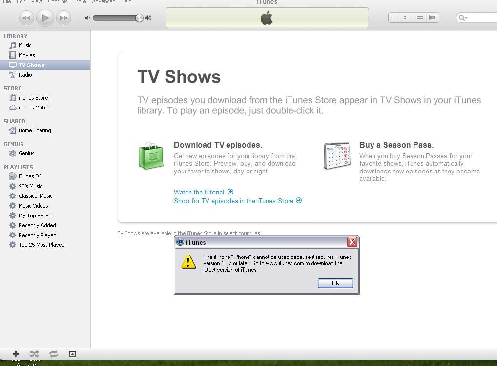 جهاز ايفون 5 تعذز تنشيط ال  iTunes