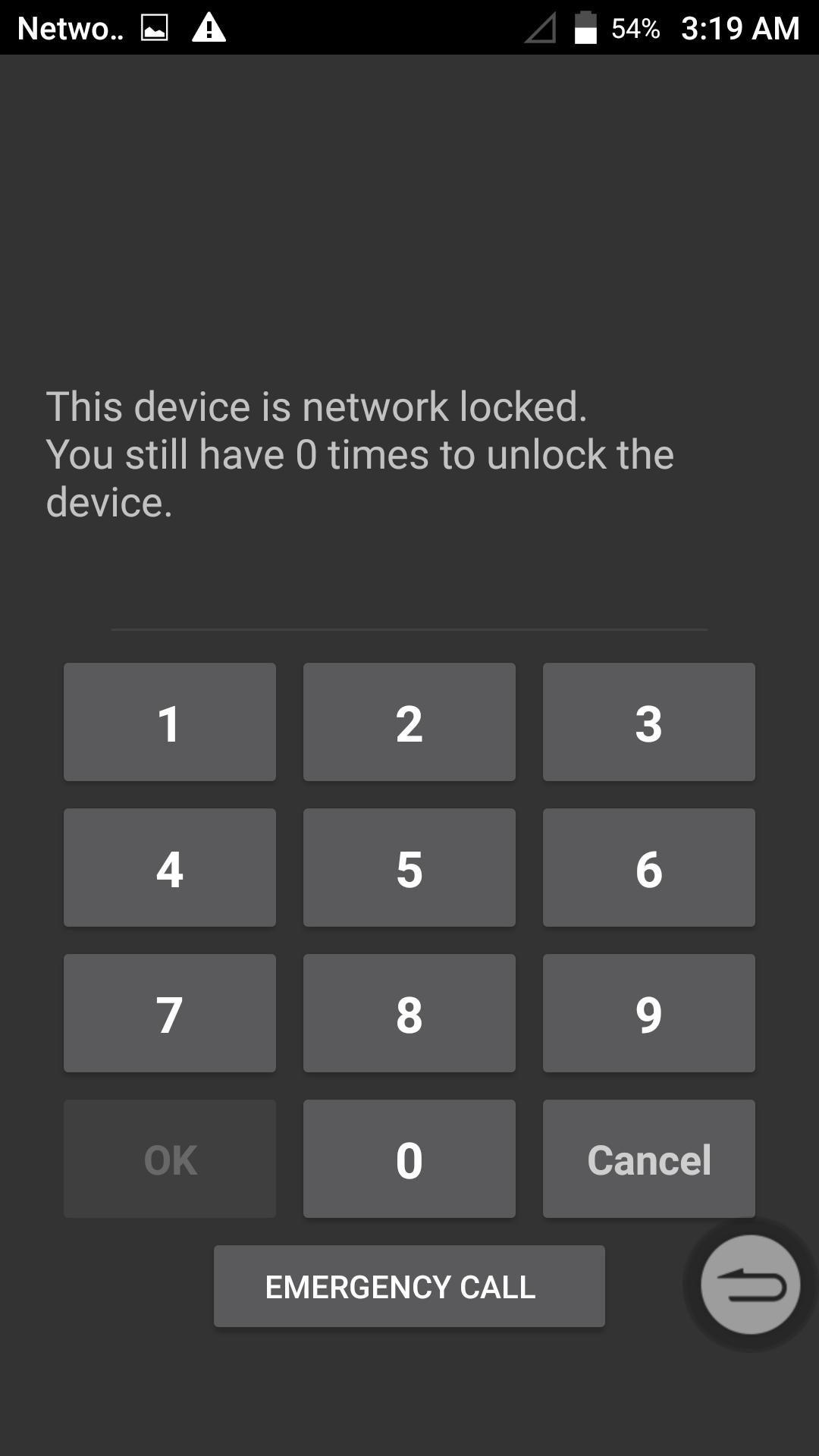 مساعدة في ارجاع عداد قفل الشبكة إلى 10 لنتمكن من التشفير zte Z983