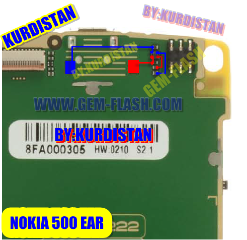 اعطال ومسارات NOKIA 500 بور اتصال جرس شاشه اضاءه مايك سماعه تاتش