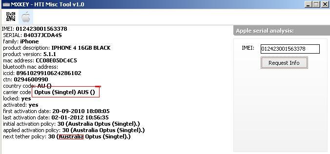 HTI Misc Tool iPhone iPad free IMEI analysis