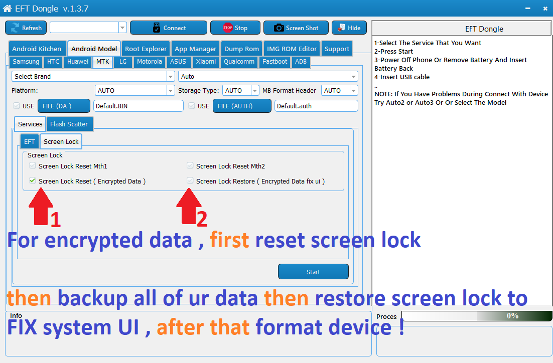 How to fix system ui after removing screen lock in encrypted