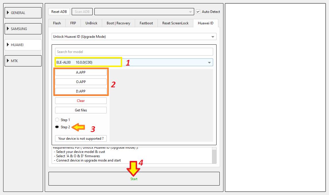 كيفية إزالة Huawei ID عن أجهزة هواوي بواسطة EFT Pro 2.0