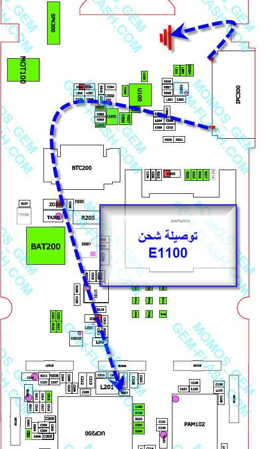 ممكن توصيلات الشحن في السمسونج E1100