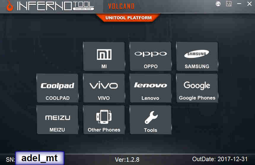 Inferno UniTool 1 2 8 World's 1st Added 1-Click Vivo Demo Fix