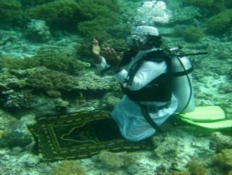 دعاء تحت الماء