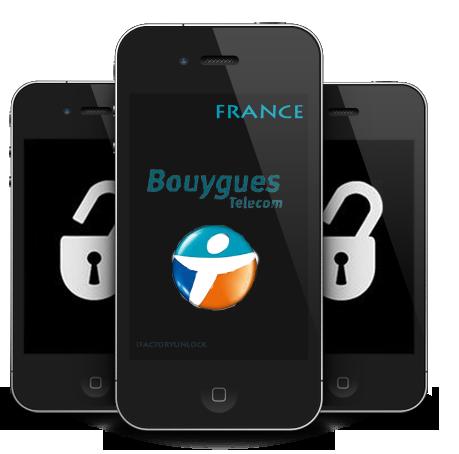 عرض ولفتره محدوده على اجهزه الآي فون المشفره على شبكة Bouygues  France