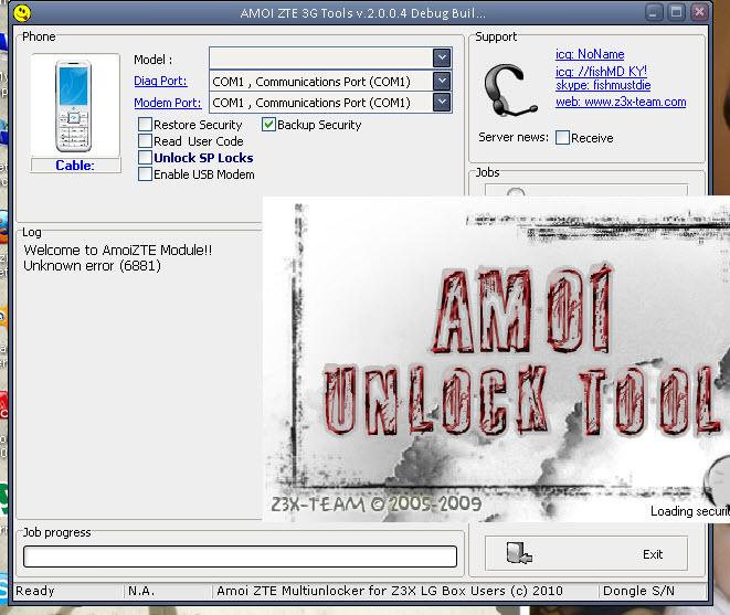 AmoiZTE Module Unknown error (6881)