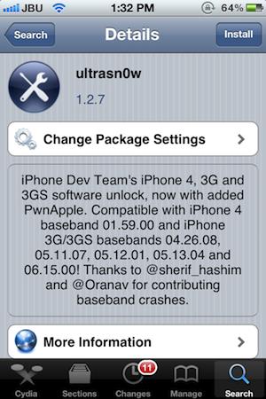 أطلاق أداه جديده من ultrasn0w لفتح القفل للأيفون 4 و 3Gص المزوده بنظام 5.1.1