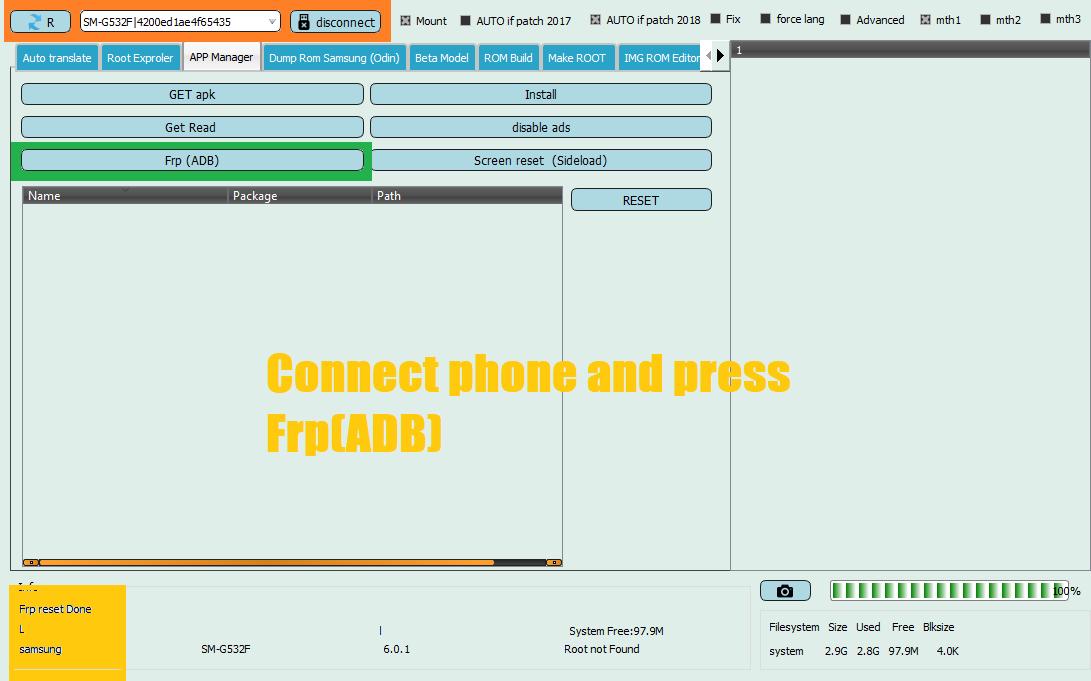 ازالة قفل غوغل عن الجهاز G532F بواسطة EFT Dongle
