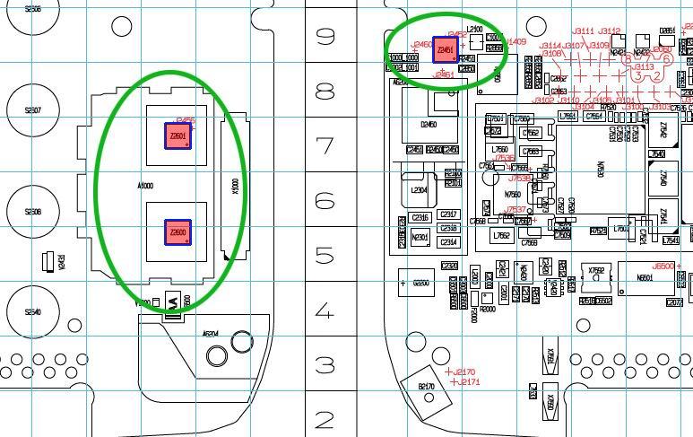 مكان كريستالة الكيباد والبيانات لنوكيا E75