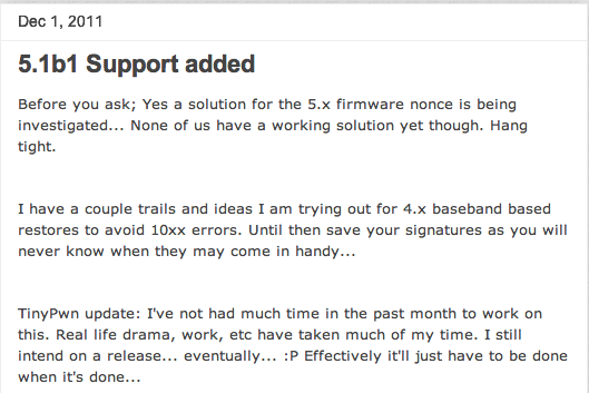 اصدار جديد لبرنامج TinyUmbrella 5.10
