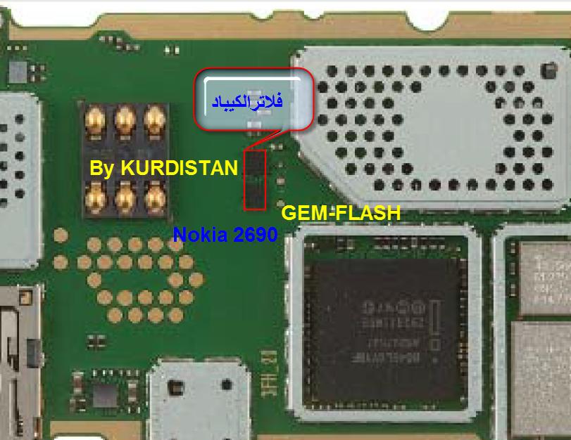 جهاز 2690 وقع في الماء وعند تنظيفه مشكلة في الكيباد