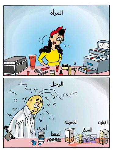 كاريكاتير خاص بالمتزوجين