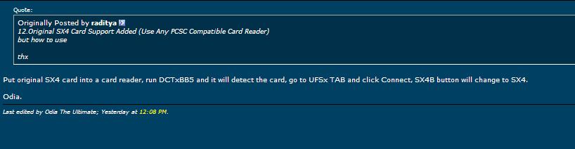 SX4 card