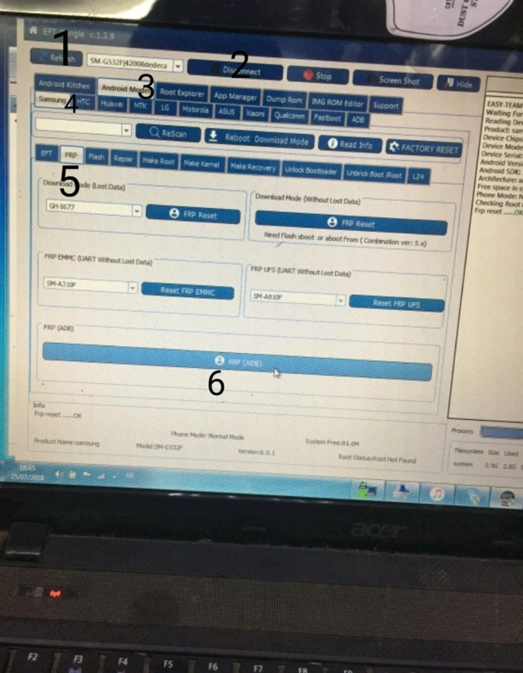 حذف حساب قوقل G532f بضغطه زر eft dongle - الصفحة 1