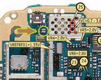 نوكيا 6070  الصوت لا يعمل بالسماعة الاذن الداخلية ويعمل علي الاسبيكر
