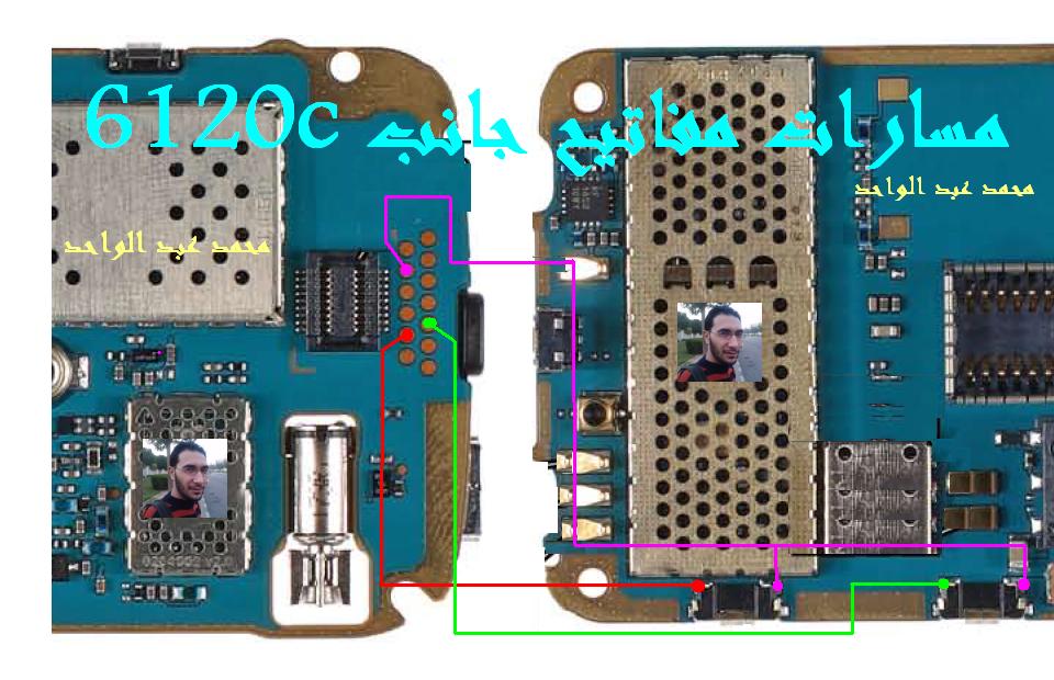 6120c مفتاح الكميرة +مفتاح الصوت لا تعمل