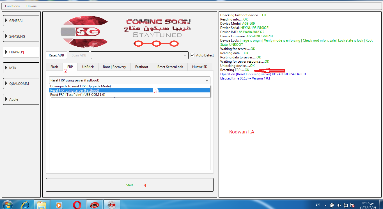 تخطي FRP من Huawei MediaPad AGS L09