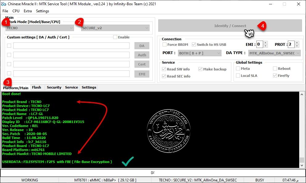 تخطي جوجل اكونت TECNO Pouvoir 4 (LC7)