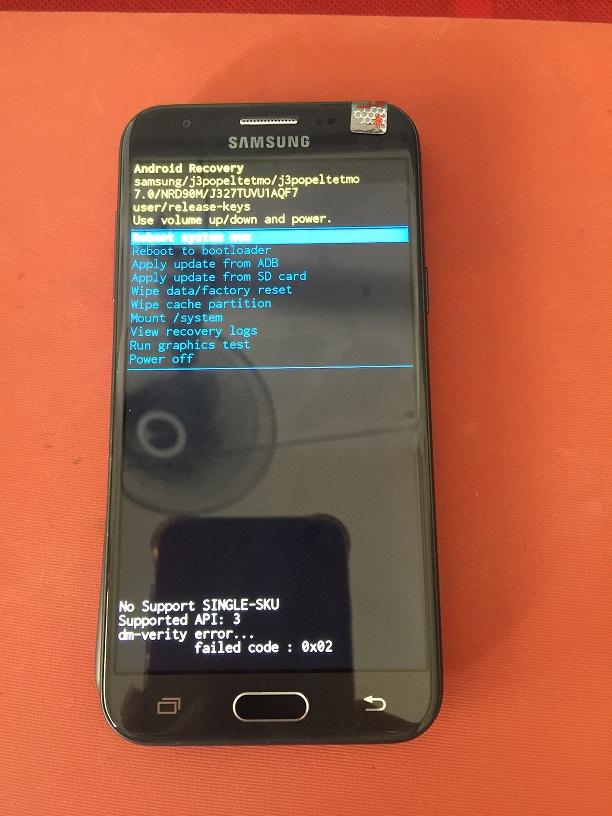 SM-J327T DM-verity error question [Answered] - GSM-Forum