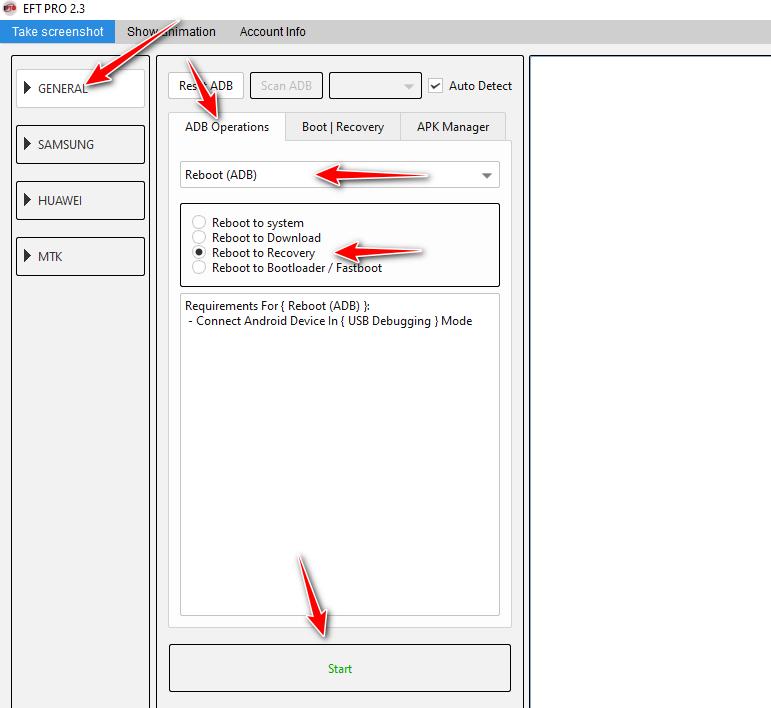 تنويه بخصوص الية روت اندرويد 10 على العملاق EFT Pro باصدار 2.4