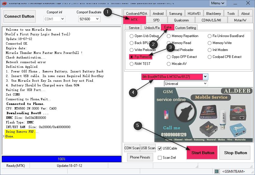 INFINIX HOT 5 LITE X559 7.0 FRP Remove