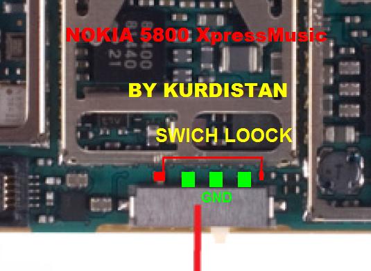 5800 مفتاح قفل لوحة المفاتيح