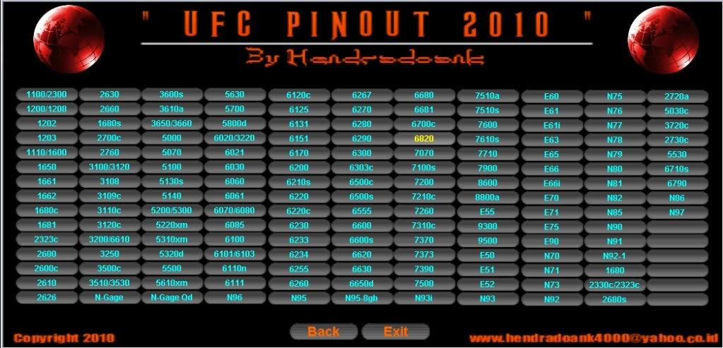 UFC PINOUT 2010