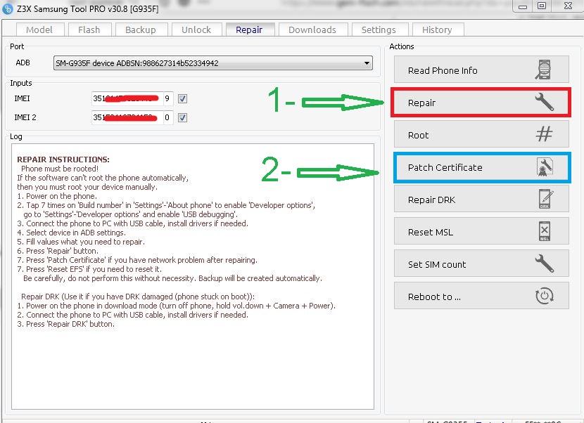 حصري : الحل النهائي لمشكلة تصفير الايمي وخطا NVM لجهاز S7 edge G935F